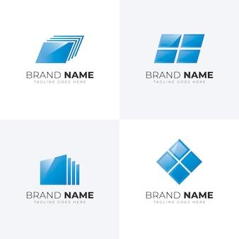 Modèle de logo en verre de couleur dégradé