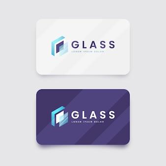 Modèle de logo en verre dégradé