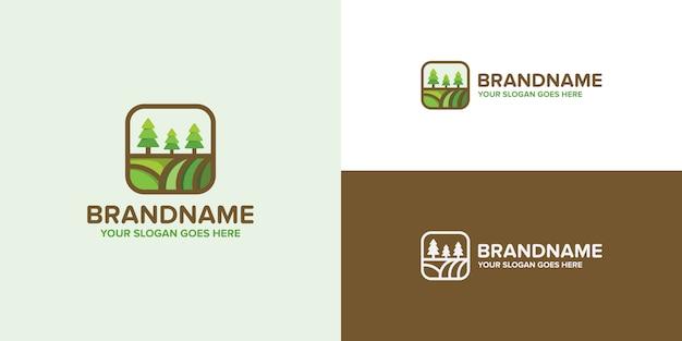 Modèle de logo vert agriculture