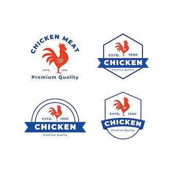 Modèle de logo de viande de poulet