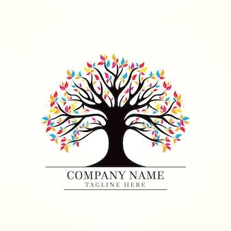 Modèle de logo de vie d'arbre