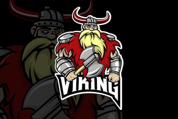 Modèle de logo viking esport