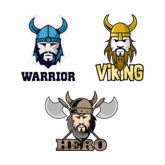 Modèle de logo viking