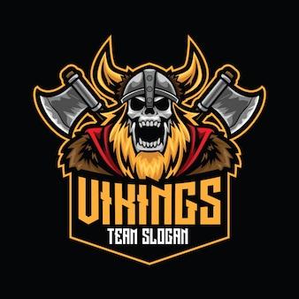 Modèle de logo vikings esport