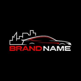 Modèle de logo de ville automatique