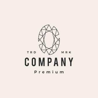 Modèle de logo vintage alexandrite gem hipster