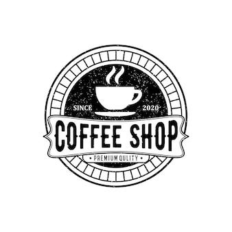 Modèle de logo vintage café