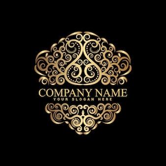 Modèle de logo vintage et de luxe vectoriel premium
