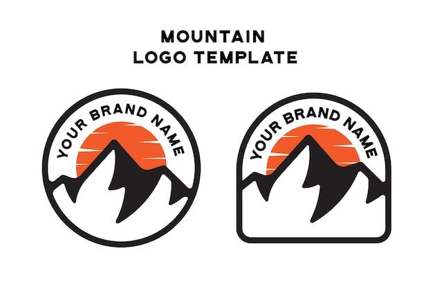 Modèle de logo vintage de montagne