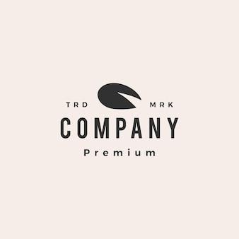 Modèle de logo vintage nénuphar hipster