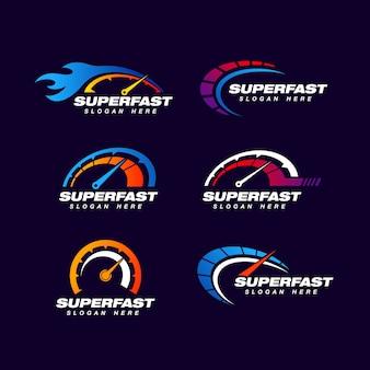 Modèle de logo de vitesse.