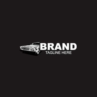 Modèle de logo de voiture automobile noir et blanc