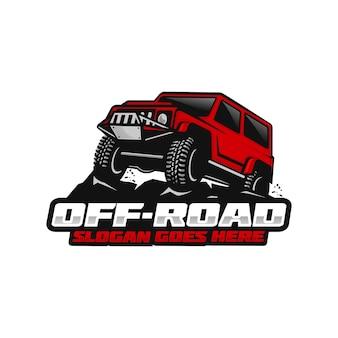 Modèle de logo de voiture hors route