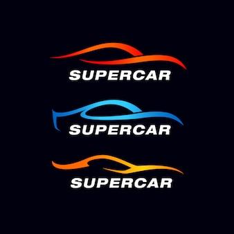 Modèle de logo de voiture de luxe. voiture de silhouette premium
