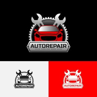 Modèle de logo de voiture de réparation automobile