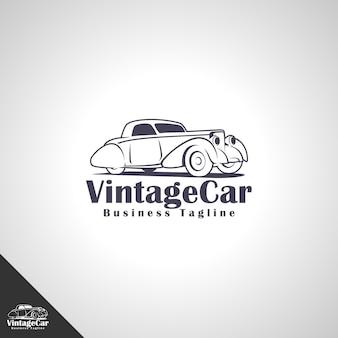 Modèle de logo de voiture vintage