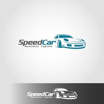 Modèle de logo de voiture de vitesse