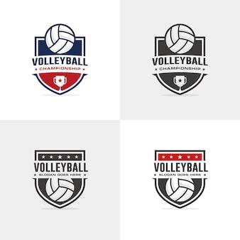 Modèle de logo de volleyball