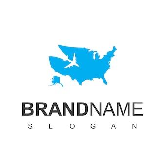 Modèle de logo de voyage américain