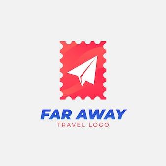 Modèle de logo de voyage détaillé