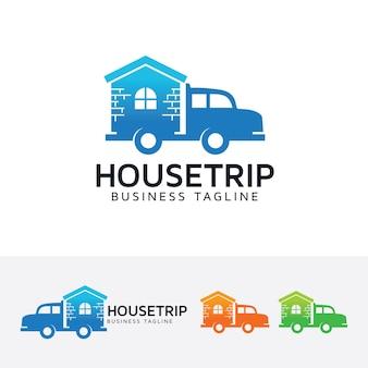 Modèle de logo de voyage de maison