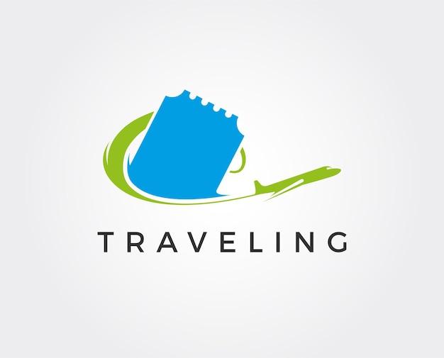 Modèle De Logo De Voyage Minimal Vecteur Premium