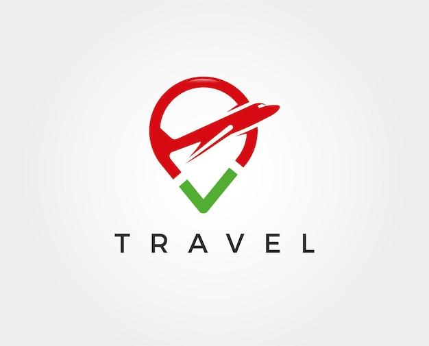 Modèle de logo de voyage minimal