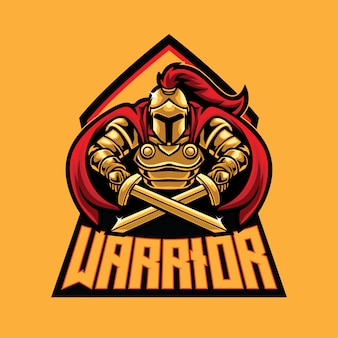 Modèle de logo warrior esport
