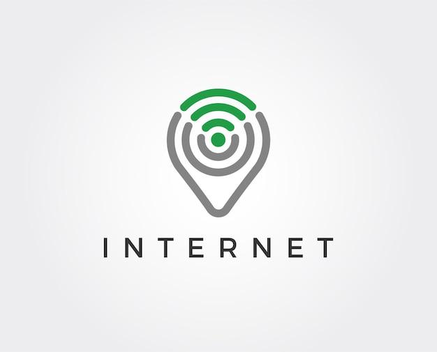 Modèle de logo wifi
