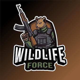 Modèle de logo wildlife force