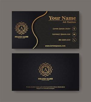 Modèle de logos et cartes de visite ornementales de luxe