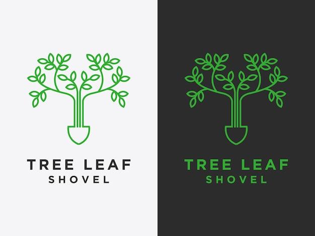 Modèle les logos de feuilles simples sont des conceptions vectorielles de style linéaire