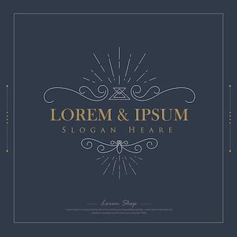 Modèle de logos de luxe s'épanouit calligraphie élégante