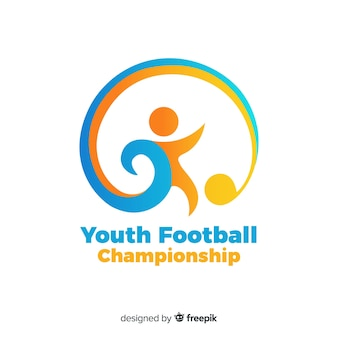 Modèle de logotype de l'équipe de football moderne