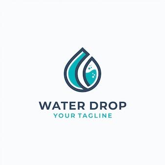 Modèle de logotype de gouttes d'eau