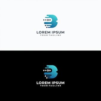 Modèle de logotype lettre b