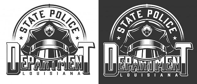 Modèle de logotype de policier vintage
