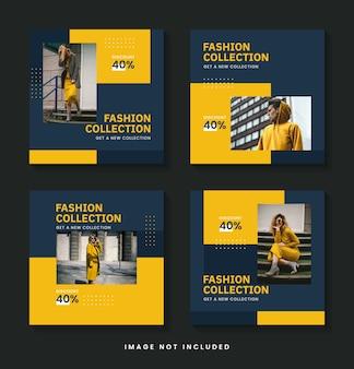 Modèle de lot de publication instagram de vente de mode
