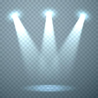 Modèle de lumière sur le fond transparent. illustration vectorielle