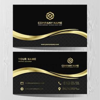 Modèle de luxe carte de visite or et argent