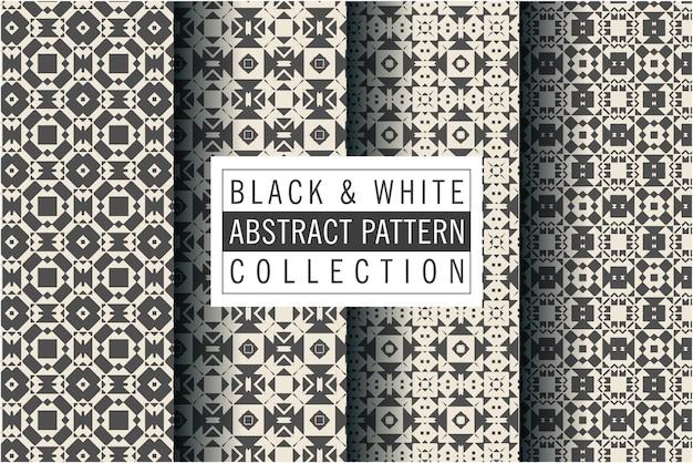 Modèle de luxe noir et blanc dans un style mosaïque