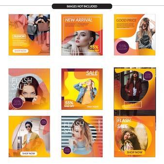 Modèle de magasin de médias sociaux avec un design moderne