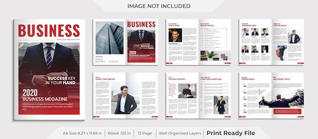 Modèle de magazine d'entreprise