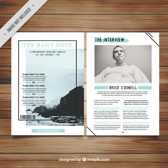 Modèle magazine minimaliste