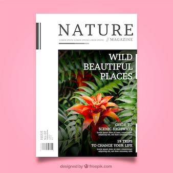 Modèle de magazine nature