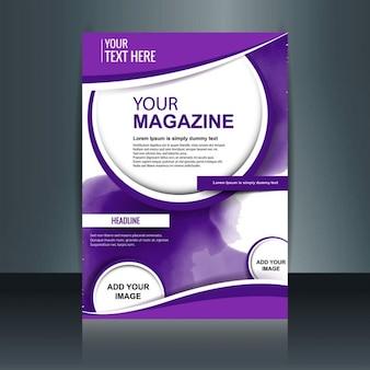 Modèle magazine violet