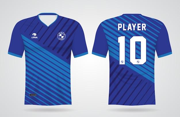 Modèle de maillot bleu sport pour les uniformes d'équipe et t-shirt de football