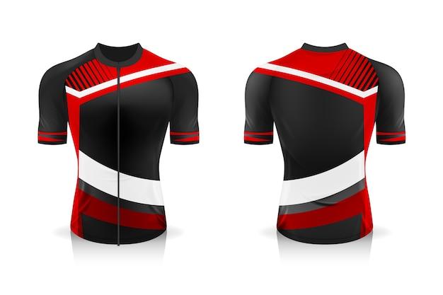 Modèle de maillot de cyclisme de spécification. t-shirt de sport à col rond pour vêtements de vélo.