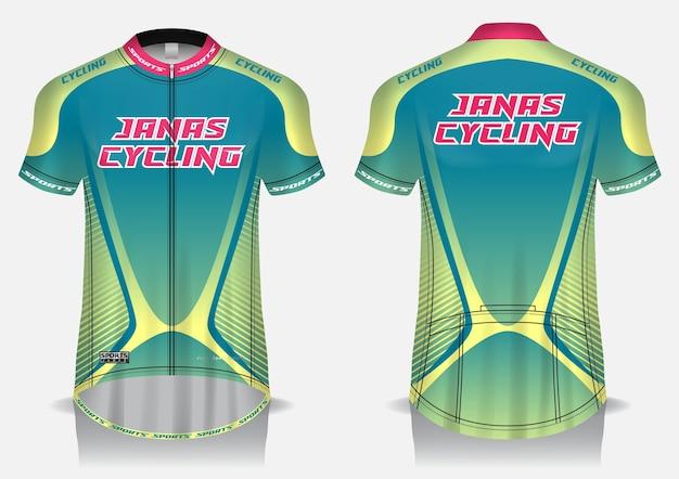 Modèle de maillot de cyclisme, uniforme, vue avant et arrière