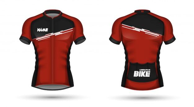 Modèle de maillot de cyclisme
